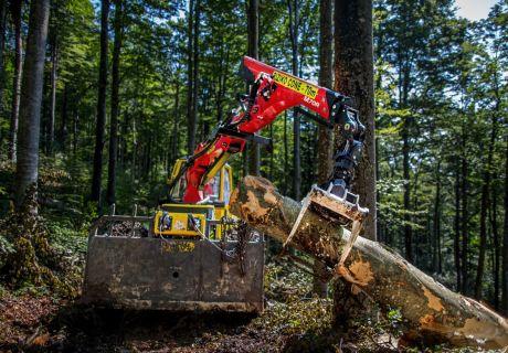 Forestry skider Bijol BWS160 with crane Palfinger Epsilon